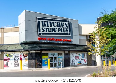 Markham, Ontario, Canada - August 05, 2019: Kitchen Stuff Plus store in Markham, Ontario, Canada. Kitchen Stuff Plus is a leading Canadian retailer in housewares and home decor.