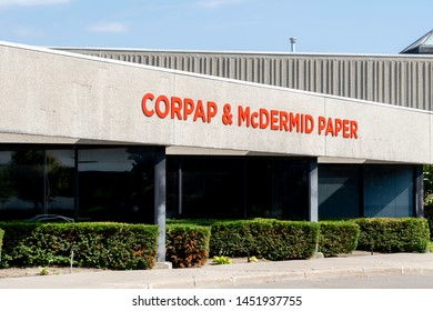 Markham, Ontario, Canada - July 13, 2019: Corpap & McDermid Paper head offcie in Markham, Ontario, Canada. Corpap is a Canadian Paper distributor.