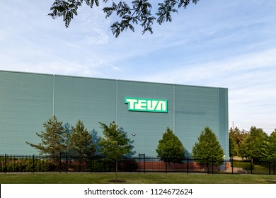 Markham, Ontario, Canada - June 29, 2018: Sign on the Teva Canada Markham manufacturing facility. Teva Pharmaceutical Industries Ltd. is an Israeli multinational pharmaceutical company.