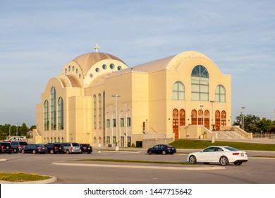 Markham, Ontario, Canada - June 29, 2018: St. Mark Coptic Orthodox Cathedral in Markham, Ontario.This is the first Coptic cathedral in North America, consecrated by Coptic Pope Tawadros II