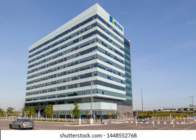 Markham, Ontario, Canada - June 29, 2018: Aviva Canada's head office in Markham, Ontario. Aviva plc is a British insurance company, a general insurer and a life and pensions provider.