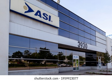Markham, Ontario, Canada - June 29, 2018: ASI Canada building in Markham, Ontario, Canada; ASI Corp. is a distributor of IT hardware and software products headquartered in California.