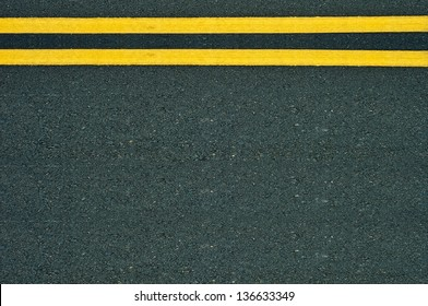 Marking Double Yellow Lines Road.