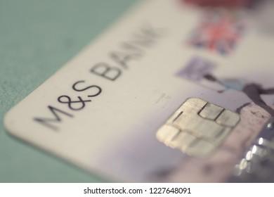 Marks and Spencer Bank card  Dewsbury England 9/11/2018