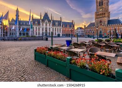 Markt (Market Square), Provinciaal Hof (Province Court) and Belfry of Bruges (Belfort van Brugge) is a medieval bell tower in the centre of Bruges, Belgium. One of the most prominent symbols of Bruges