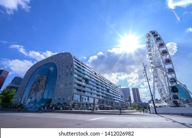 Markthal in the port city of Rotterdam