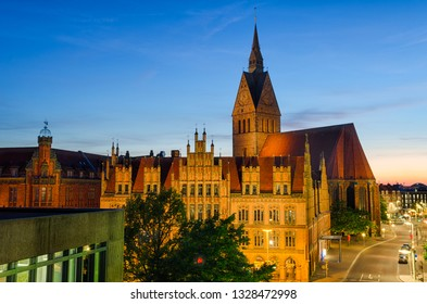 Marktkirche and Old City Hall in Hannover, Germany