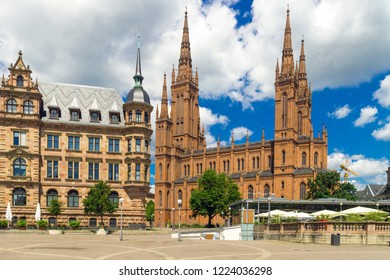 """Marktkirche The oldest and largest Protestant church in Wiesbaden; built by Carl Boos as """"Nassauer Landesdom"""""""