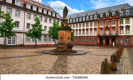 Marktplatz (Market Square) of Heidelberg, Germany