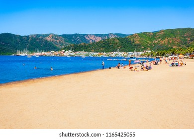 Marmaris beach in Marmaris city in Turkey