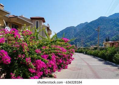 Marmaris. Summer 2015. Beautiful seaside resort town on the Aegean sea. Turkey.