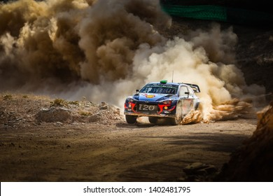 Marmaris, Turkey - 09/14/2018: Hayden Paddon and Seb Marshall at Rally Turkey