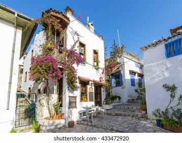 Marmaris, Turkey - April 15, 2016 :Marmaris streets view. Marmaris is populer tourist destination in Turkey.