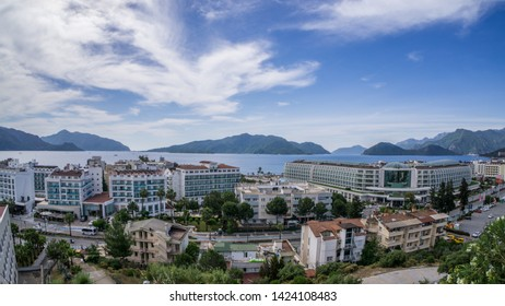 Marmaris. Turkey. May 26, 2019; Panorama of the city of Marmaris. View from above.