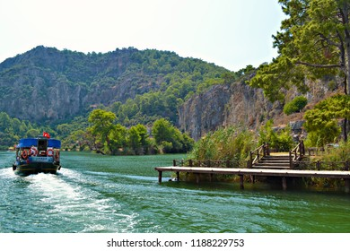 MARMARIS, TURKEY - September 2014: The boat trips and islands near in Marmaris, Turkey