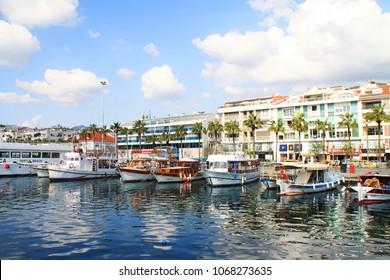 Marmaris/Turkey - February 27 2016: Marmaris center - view from the sea