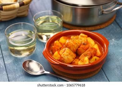 marmitako, tuna and potatoes stew,  spanish basque cuisine
