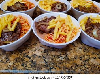 Marmitex or takeaway food