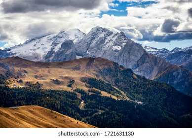 Marmolada Glacier in Autumn. Trentino Alto Adige, Italy
