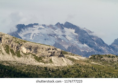 Marmolada Mountain the highest peak in Dolomites, Italy
