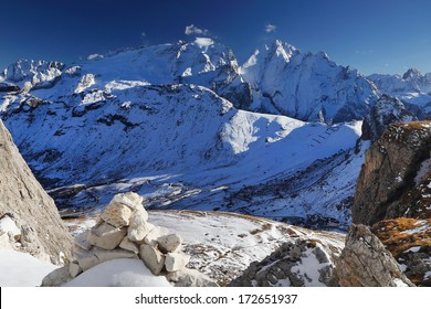 Marmolada and Peak Vernel, Dolmites, Italy