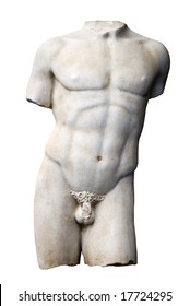 marmoreal torso of the italian renaissance age, period immediately following the Middle Ages
