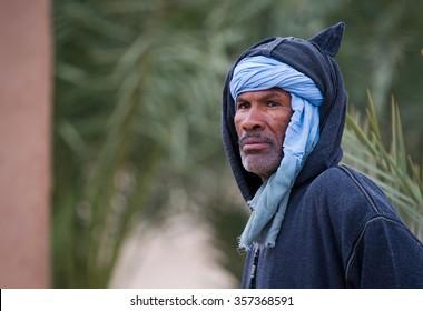 Marocco 2015 Year December 30 .Portrait of  Berber man  in  Erfound Marocco