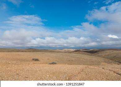 Marocco's Agafay desert near Marrakech. Empty, arid landscape.
