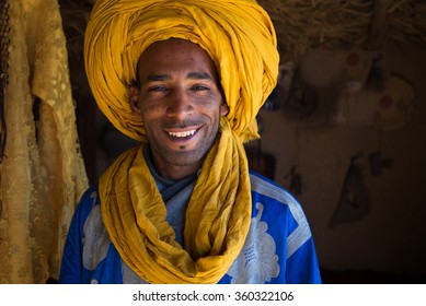 Maroko 2015 Year December 30 .Portrait of smilling  berber man in Maroko