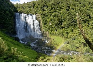 Marokopa Falls near Waitomo, New Zealand