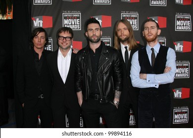 Maroon 5 at the 16th Annual Critics' Choice Awards held at the Hollywood Palladium - Arrivals. Hollywood, California - 14.01.11.