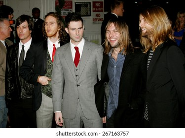 Maroon 5 attends the Global Green USA Pre-Oscar Celebration to Benefit Global Warming held at the The Avalon in Hollywood, California on February 21, 2007.