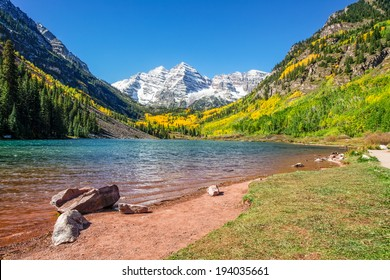 Maroon Bells Autumn Landscape Aspen Colorado