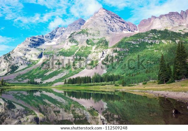 Maroon Bells Colorado Royalty Free Stock Image