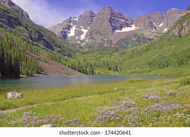 Maroon Bells, Elk Range, Rocky Mountains, Colorado