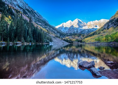 Maroon Bells in the fall