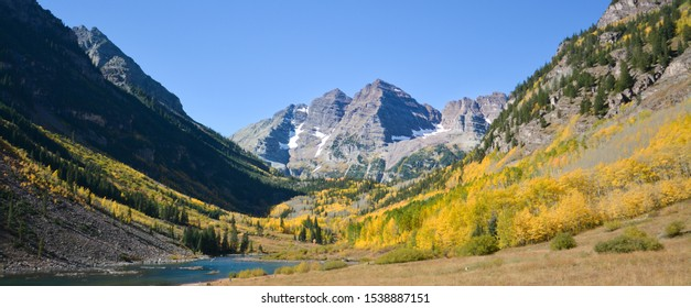 maroon bells in late fall, aspen colorado
