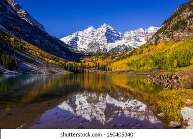 Maroon Bells, most photographed spot in Colorado