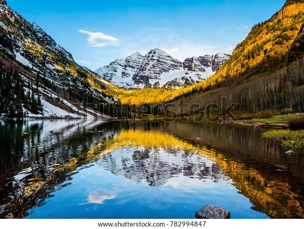 Maroon Bells Peak Maroon Lake Aspen Stock Photo Edit Now