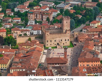 Marostica seen from the upper castle / Province of Vicenza / Italy