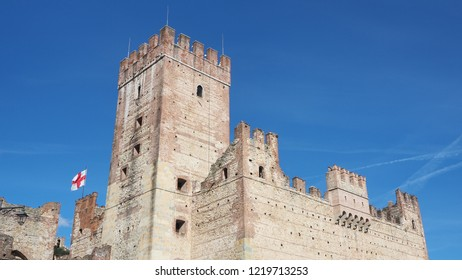 Marostica, Vicenza, Italy. The castle at the lower part of the town