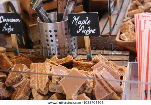 Marple fudge at a market