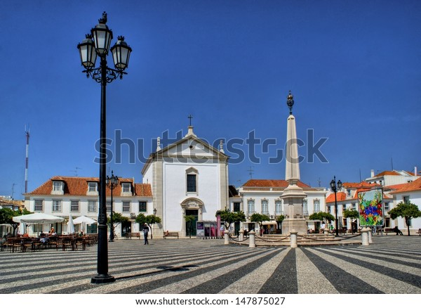 Marques de Pombal square in Vila Real de Santo Antonio