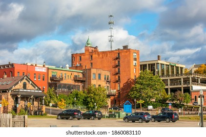 Marquette, MI, USA - Oct 4, 2020: Marquette is the largest city in the Michigan Upper Peninsula with population of about 21,300.