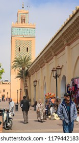 Marrakech, Morocco - 2016-03-04 : Outside the famous Koutoubia mosque in Marrakech, Morocco, Africa