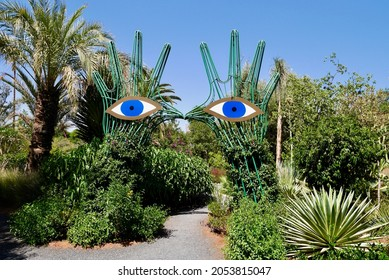 Marrakech, Morocco, 24.04.2016 - Anima, Andre Heller's imaginative botanical garden.