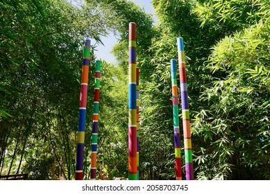 Marrakech, Morocco, 24.04.2016. Anima, Andre Heller's imaginative botanical garden. Art installation.