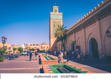 MARRAKECH, MOROCCO, 29 AUGUST 2018: Kasbah Mosque