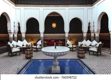 MARRAKECH, MOROCCO - July, 30th: Mamounia palace Hotel on July, 30th in MARRAKECH, MOROCCO