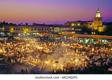 Marrakech nigh open market